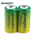 2pcs! SKYWOLFEYE 16340 CR123A LR123A Battery 3.7V 1800mAh Rechargeable Li-Ion Lithium Battery for Camera Flashlight Toy