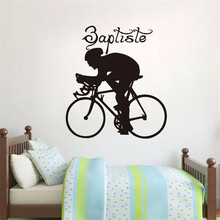 Sports Bicycle Cycling Bike Wall Sticker Home Decor Custom Art Removable Wall Stickers For Bedroom Vinyl Decal Mural Decoration