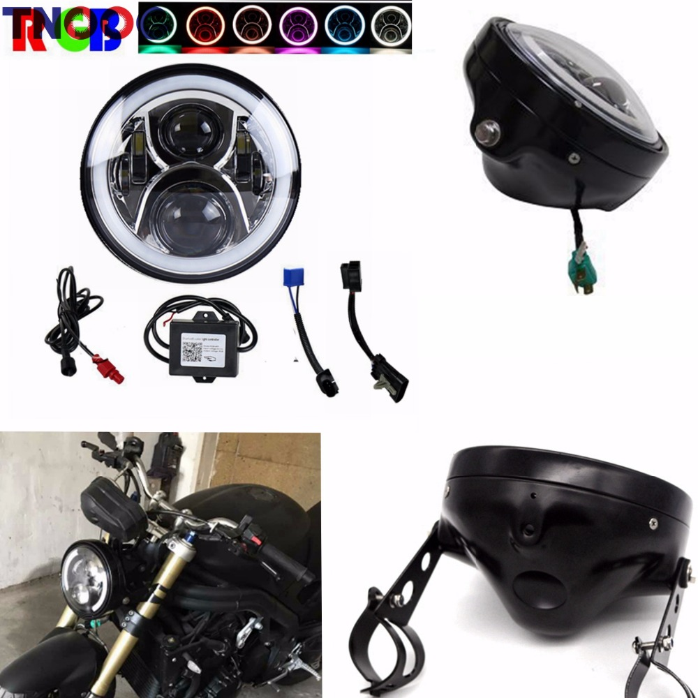 TNOOG 7 7 Inch headlights Daymaker Housing bucket for Harley Davidson motorcycle Accessories Led Headlight
