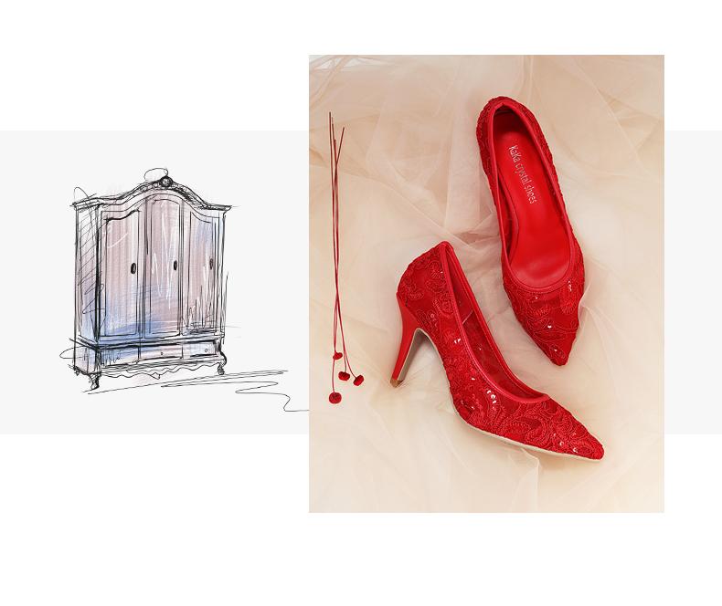الفم حذاء الدانتيل الكعب 24