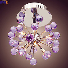IWHD Bule Modern Crystal Ceiling Lights Home Lighting Living Room Light Cristal LED Ceiling Lamp Luminaire lustres De Cristal  цена 2017