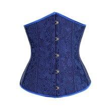 7fbbc717ba684 Blue Waist Trainer Woman Vintage Palace Style Body Shaper Shapewear Waist  Cincher Lady Body Tummy Control