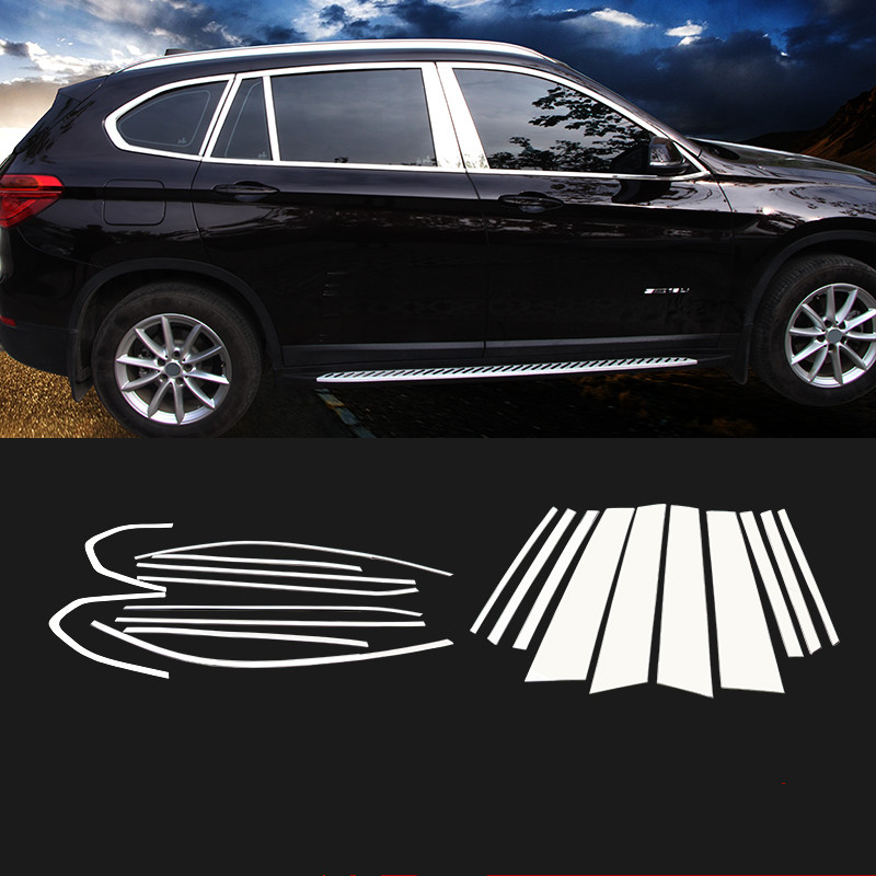 2 Chrome Rear Fog Light Lamp Frame Cover Trim Strip For BMW X1 2016-2018-2019 17