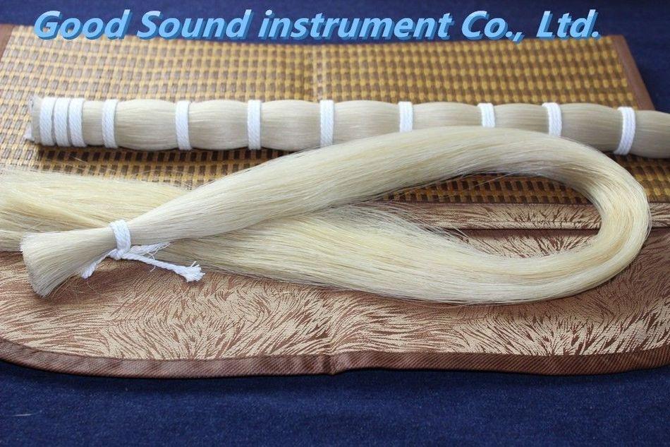 250g Horse Hair AAA Bulk White Horse Hair Bow Parts Mongolian Stallions 80-85cm