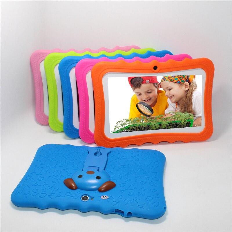 50%off!glavey 7'' Allwinner A33 Q88pro Children Tablet Pc Android 4.4 512mb+8g Quad Core Crash Proof Gift Colorful Kids Tablet