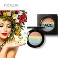 Focallure Marca 6 Colores Del Arco Iris de Sombra de Ojos Paleta de Maquillaje Nueva Glow Kit Resaltador Belleza Cosmética Sombra de Ojos En Polvo Al Horno