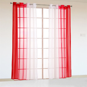 Image 5 - 2 Panel Finished Curtain Orange Gradient Tulle Curtain For Living Room Bedroom Kitchen Short Curtain Coffee Curtain D002#42 Pane