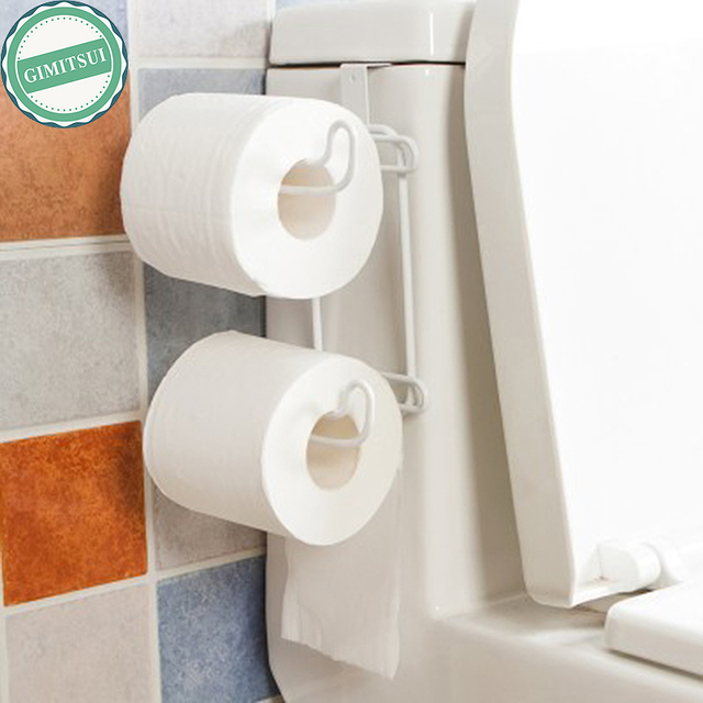 NEW Tank Toilet Tissue Paper Roll Holder Rack Steel Organizer ...