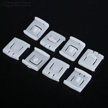 Mgoodoo 10Pcs Slider Guide Runner Clip Set For Audi V W MK1 MK2 MK3 Rabbit Golf Corrado Seat Auto Fastener Clips