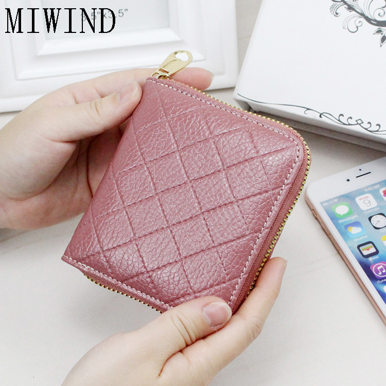 Women Wallet Candy Color Leather Zipper Small Fresh Short Wallet Card Holder Purse Zipper wallet female Carteira Feminina TSH392 17 pin to 16 pin obd2 diagnostic cable for mazda black 21cm