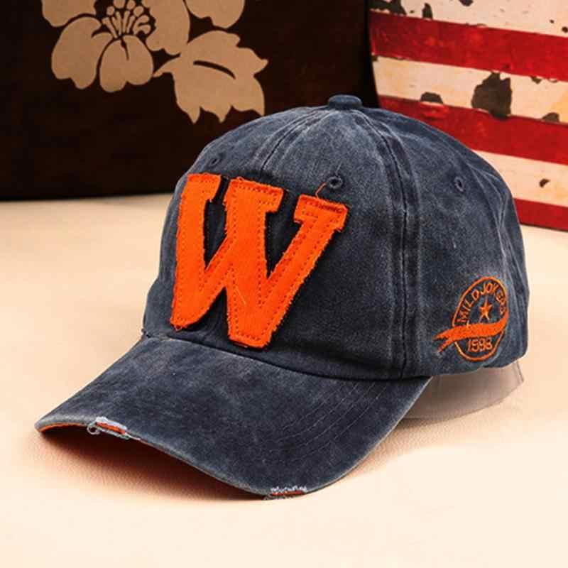 bb54d627b79 ... Unisex W Printed Men Women Snapback Hip-hop Cap Trucker Cap Baseball Hat  Adjustable Boys ...
