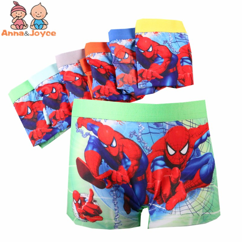 6pcs/lot kids   panties   boys boxer underwear cartoon Boxer Fashion Children's cotton underwear Boy shorts