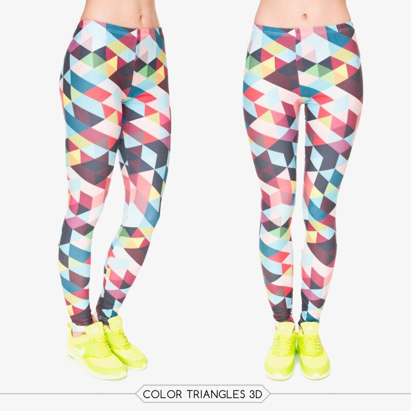 3D Printed Leggings Yoga Fitness Training Geometric Patterns Women High Elastic Sport Pants