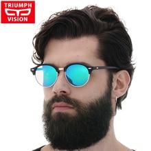 e0b7e74592043 TRIUMPH Motorista de VISÃO Óculos De Sol Para Homens Polarizada Retro  Rodada Oculos Shades Feminino 2017 Óculos de Sol Do Vintag.