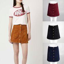 Liva girl 2018 Summer Vintage Women s Clothing Bottoms Skater Saia Etek  A-Line Skirt d50234512f8e