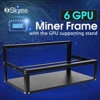 S SKYEE Coin Open Air Mining Miner Frame Rig Case Up To 6 Graphics Card GPU
