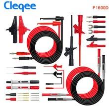 Cleqee P1600C/D/E/F 18 in 1 Pluggable Multimeter probe test leads kit automotive probe set IC Test hook Fluke BNC-Test cable