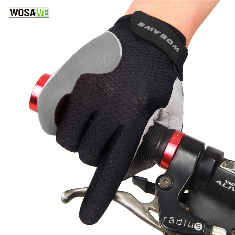 WOSAWE Spring And Autumn Touch Screen Bicycle Glove Non-slip Cycling Glove Long Finger Riding Glove BST-011
