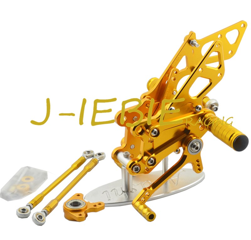 CNC Racing Rearset Adjustable Rear Sets Foot pegs Fit For Honda CBR600RR 2003-2006 CBR1000RR 2004 2005 2006 2007 GOLD car rear trunk security shield cargo cover for honda fit jazz 2004 2005 2006 2007 high qualit black beige auto accessories