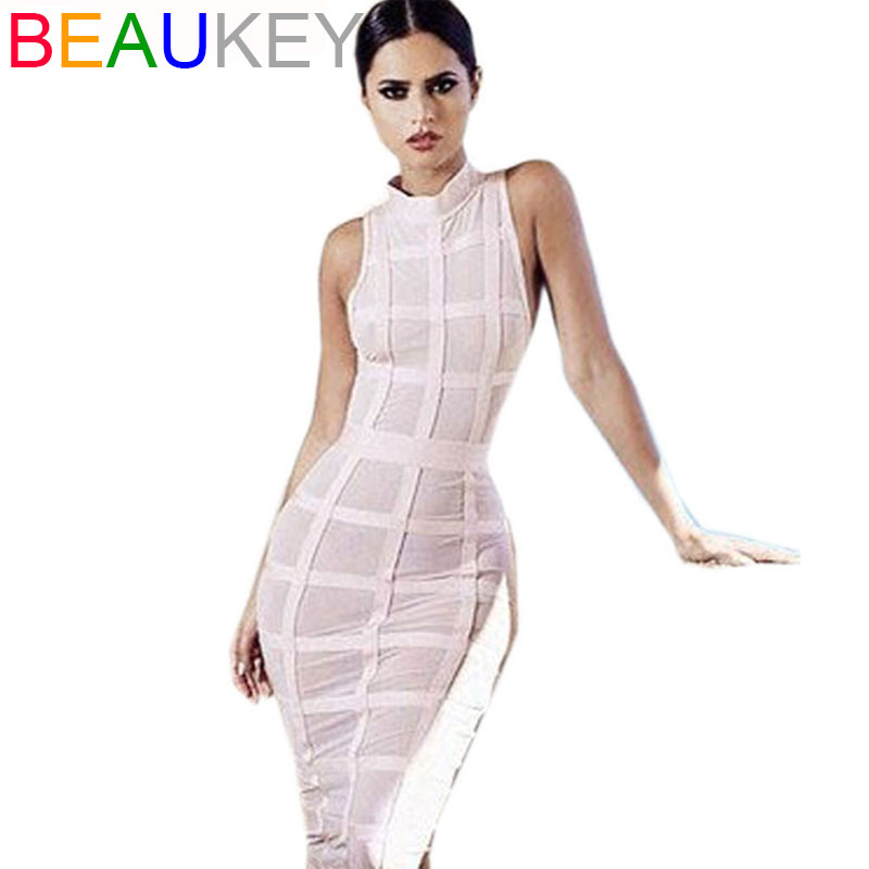 Pink Black Grid Sleeveless Long Bodycon New Arrival 2015 Sexy Women s Rayon Mesh Lattice Midi