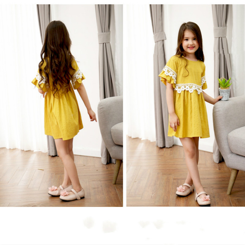 Baby Dresses Girl Lace Princess Dress Girlss Casual Birthday Party Flare Sleeve Wedding Dress Toddler Clothing Children Clothes