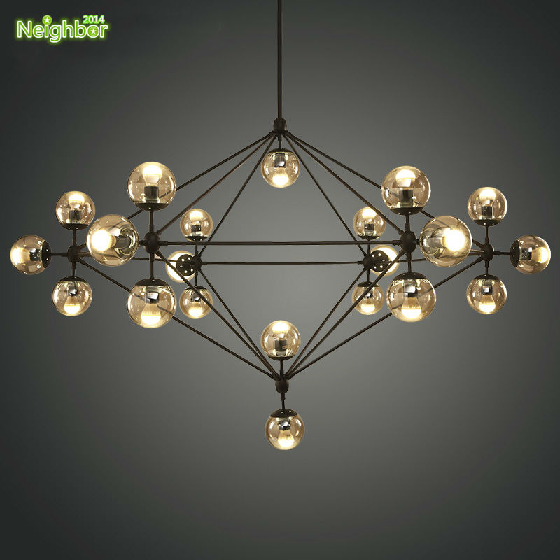 New modern modo suspension hanging big chandelier glass ball ceiling new modern modo suspension hanging big chandelier glass ball ceiling lighting parlor living room including 1521 led bulbs in pendant lights from lights mozeypictures Images