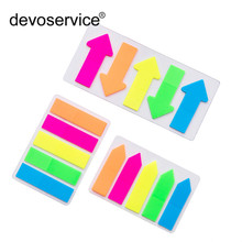 лучшая цена Novelty Fluorescent Candy Color Self Adhesive Memo Pad Sticky Notes Sticker Label Escolar Papelaria School Office Supply 100Page