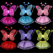 100 sets lot EMS Free Shipping Halloween Carnival Christmas Fancy Dress Kids Girls Fairy Costumes Four