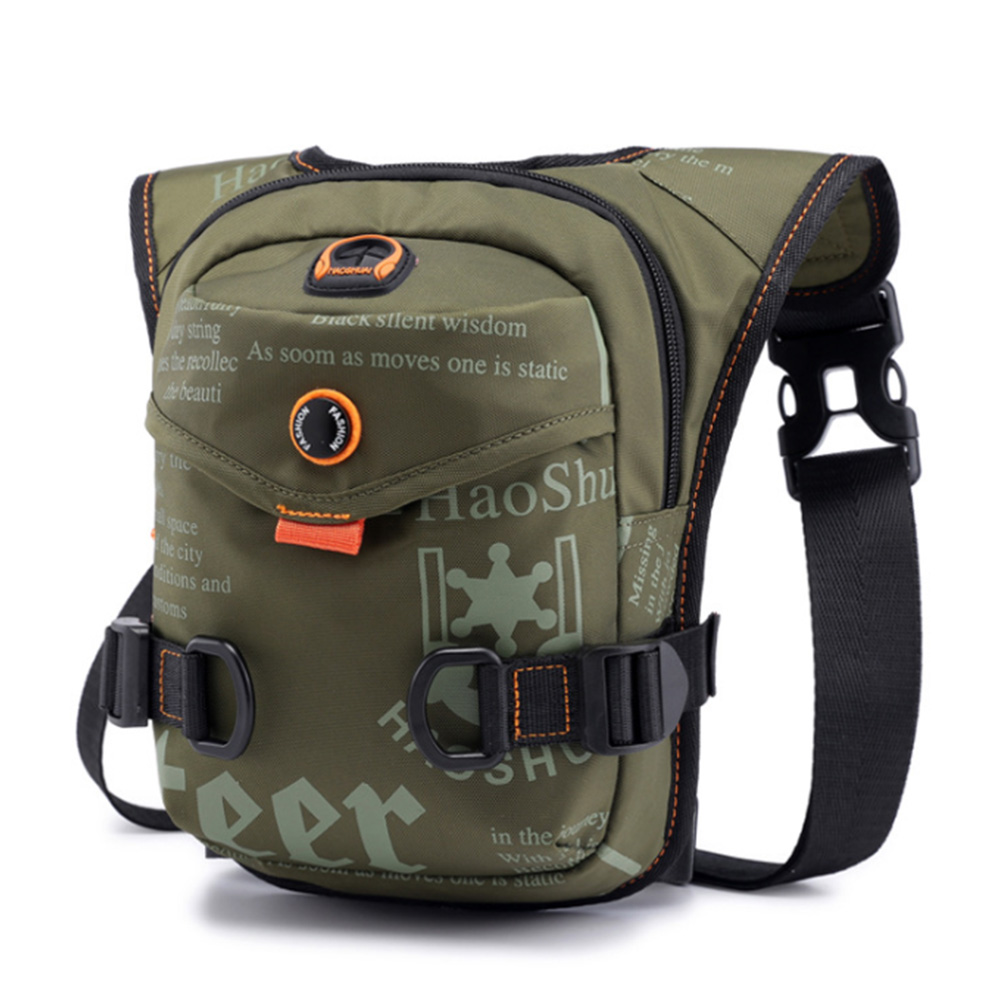 17 X 8 X 25cm Multi-function Sports Men's Chest Bag Portable Nylon Pockets Messenger Bag Outdoor Cycling Riding Leg Bag