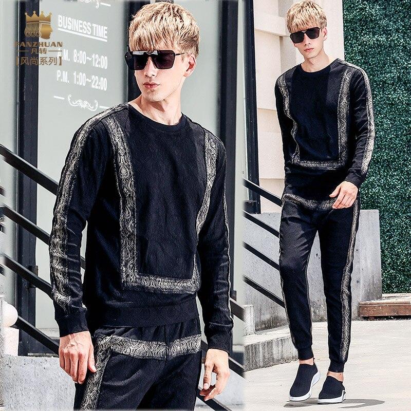Fanzhuan Free Shipping New fashion casual 2017 male Men s autumn long sleeved t shirt pants