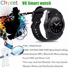 V8 Smart Uhr Sim Tf-einbauschlitz Bluetooth-konnektivität für Apple iPhone Android Telefon Smartwatch Uhr pk U8 DZ09 GT08