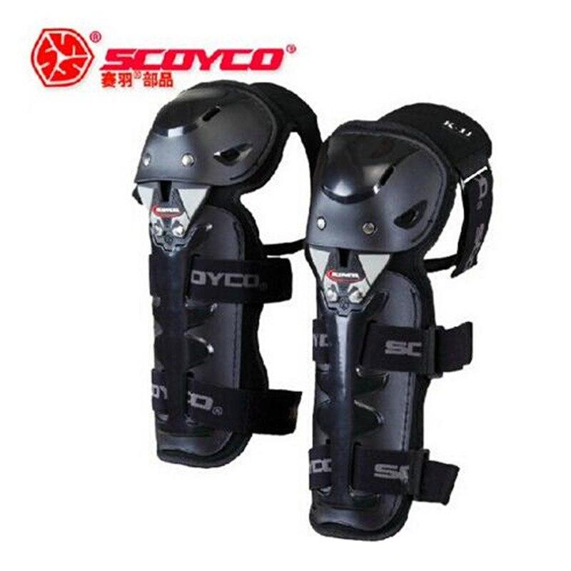 (4 pcs/ensemble) 100% D'origine CE Approbation Moto Genou et Coude Protecteur Vélo Garde Moto De Protection Genouillère Marque Scoyco K11H11-2