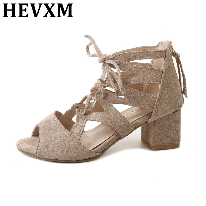 Lacets Bout Sandales Q2 Femme Chaussures Avec Femmes Ouvert D'été Haute Pompes Talons Sexy q1 À Épais 0qRwX