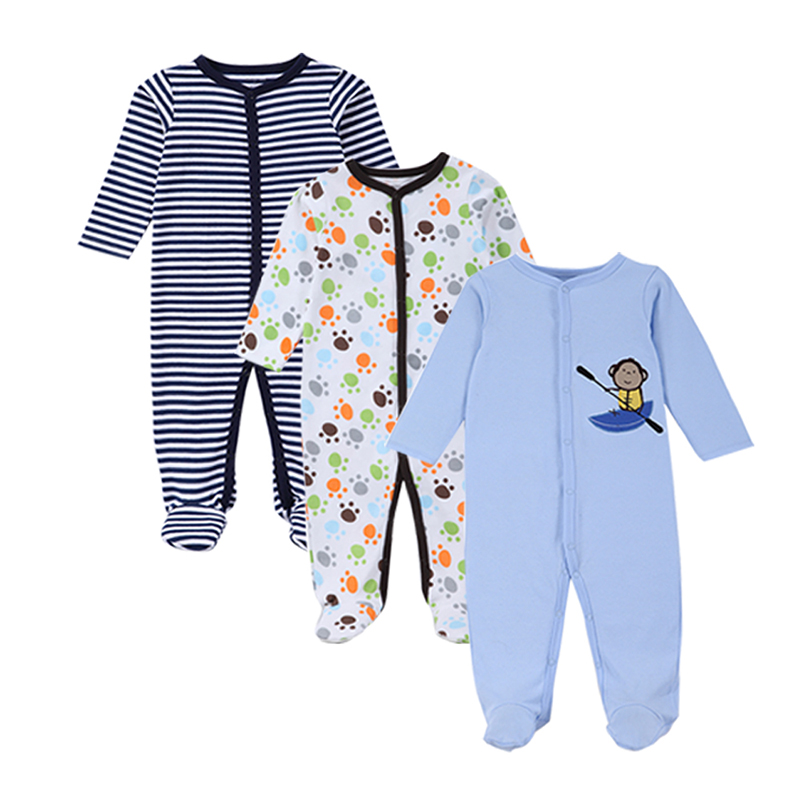 3-Piece Baby Clothing 2016 New Baby Boys Girls Clothes Sets Long Sleeves Infant Rompers Summer Boy Jumpsuits Baby Product