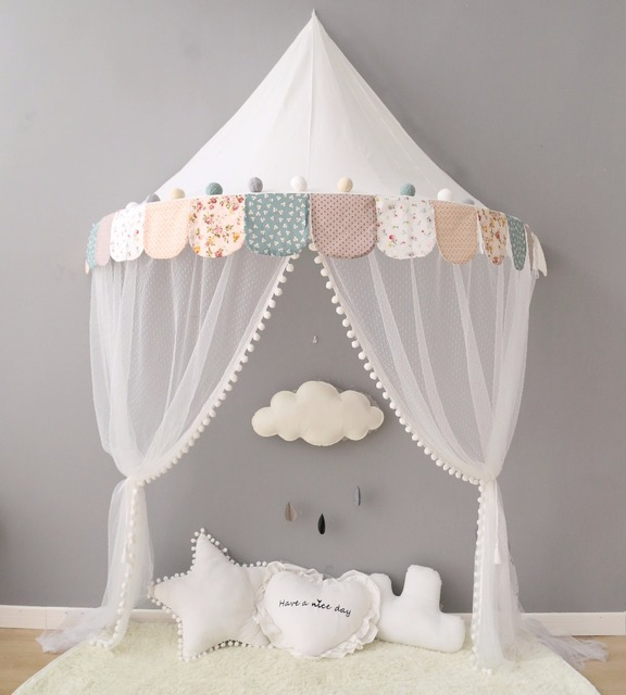Cotton Baby Canopy Beds Kids Tents And Playhouses Toddler Bed Tent With  Mosquito Net Tipi Play