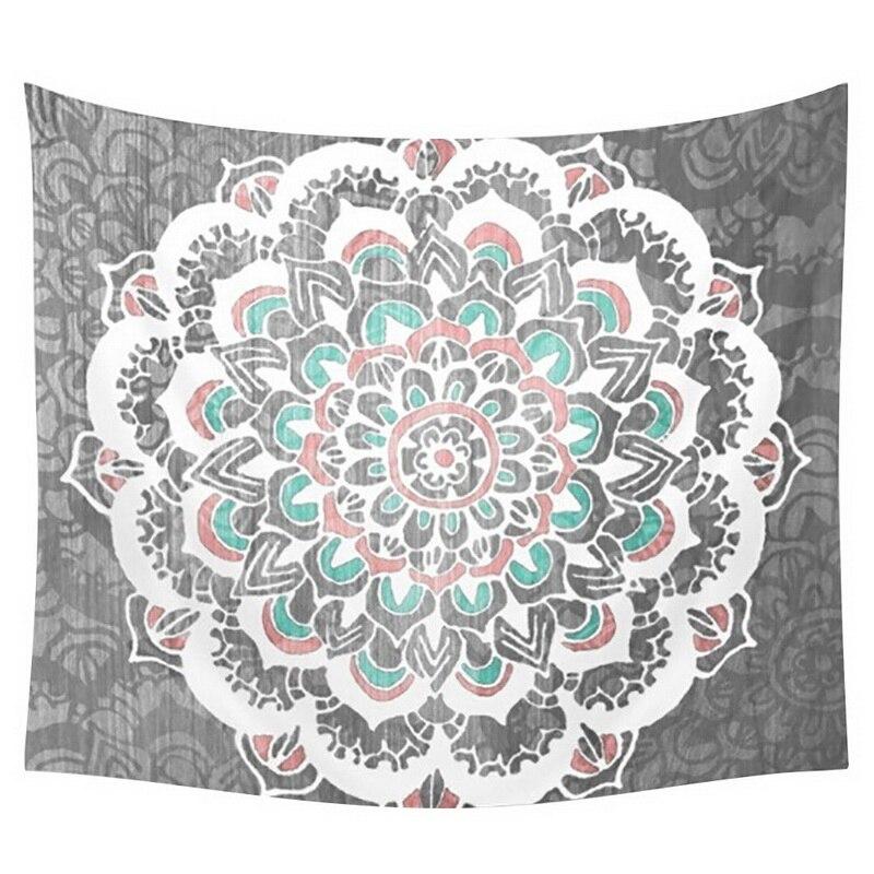 Hohe Qualität 150 cm * 150 cm Platz Tapisserie Polyester Tapisserie Hippie Strand Schal Werfen Roundie Mandala Wandbehang Handtuch LM76