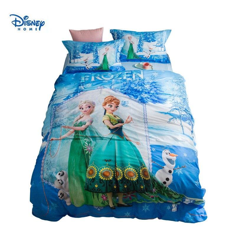 Frozen Elsa And Anna Bedding Set For Kids Bedroom Decor
