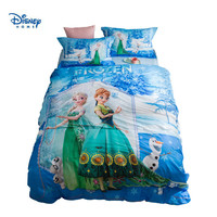 Frozen Elsa and Anna Bedding set for Kids Bedroom Decor Cotton Bed Sheets Duvet Coves Twin Size Home Textile Full Queen Coverlet