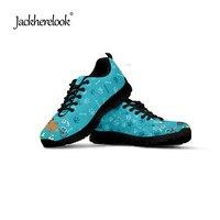 Jackherelook Flats Cartoon 3D Veterinarian/VET Prints Women Casual Flats Shoes Woman Leisure Lace up Mesh Ladies Sapato Feminino