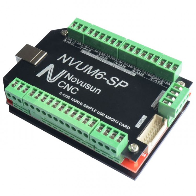 цены NVUM6-SP USB MACH3 Interface Board Card 6-Axis CNC Controller 100KHz for Stepper Motor