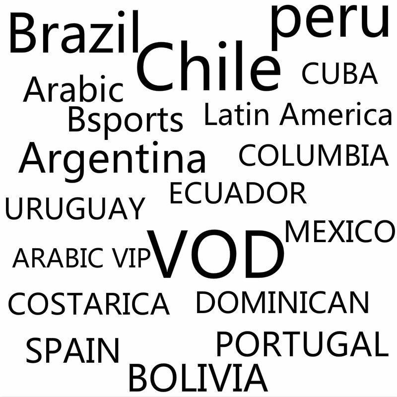 Infinity Iptv abonnement avec VOD pour brésil chili pérou arabe Bsports Cuba amérique latine argentine colombie équateur Uruguay