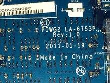 CHAUDE EN RUSSIE de TRAVAIL Livraison Gratuite PIWG2 LA-6753P REV: 1.0 mère d'ordinateur portable Pour Lenovo G570 Notebook PC