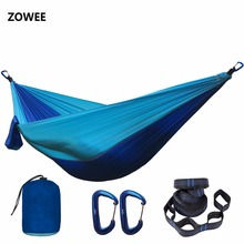 Dropshipping orders Parachute Hammock with Hammock straps and Aluminum carabiner Camping Survival outdoor furniture
