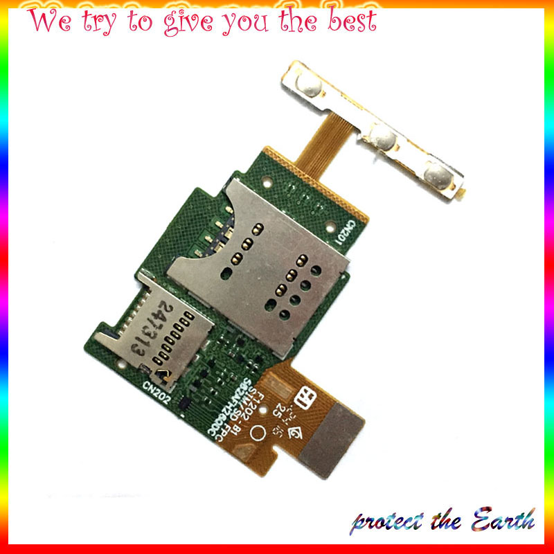 10Pcs/lot, New625 for Sony Xperia J ST26 ST26i Mobile Phone SIM Card Reader Contact Flex Cable Replacement