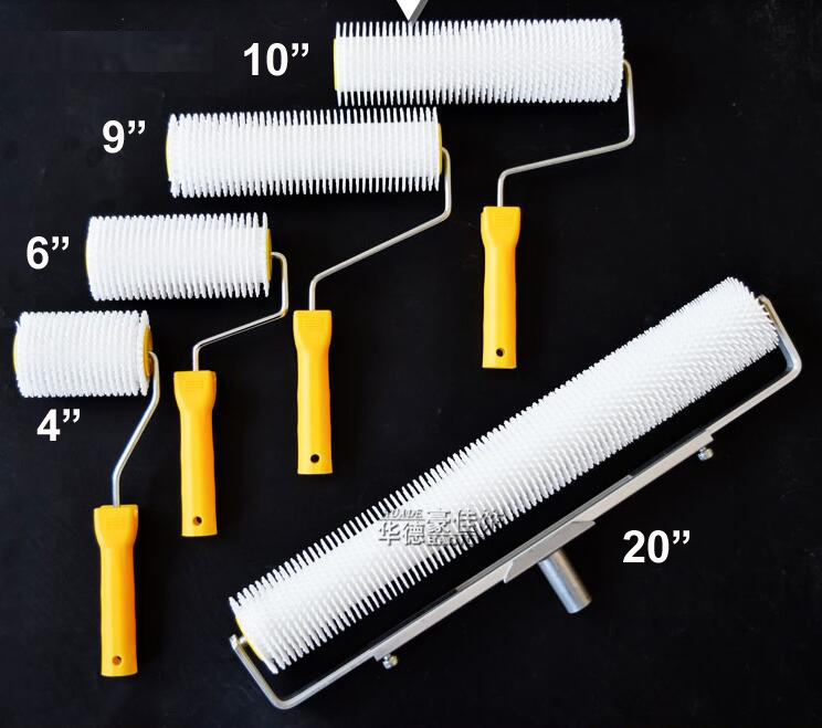 Rolo de Piso Remover as Bolhas Altura do Dente: Spike Rolo Epóxi Ferramentas 12mm