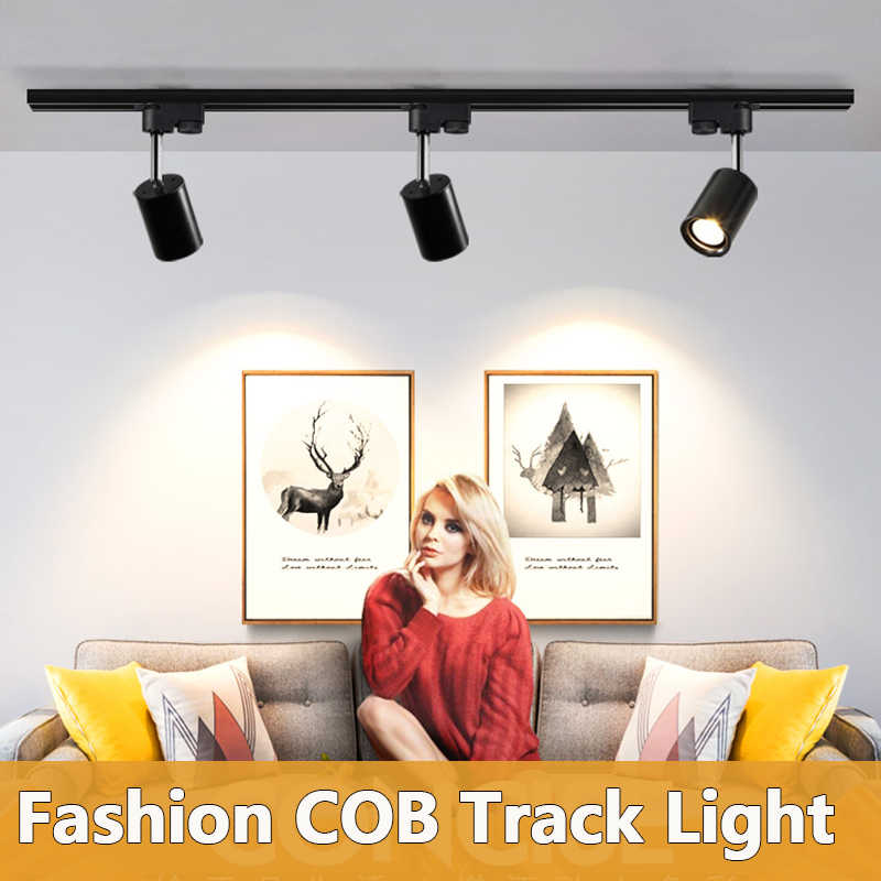 LED Track Light 12W 20W 30W Powerful COB Track Lamp Spotlight 220V Led Track Lighting Fixture Rail Lamp for Clothes Store Home