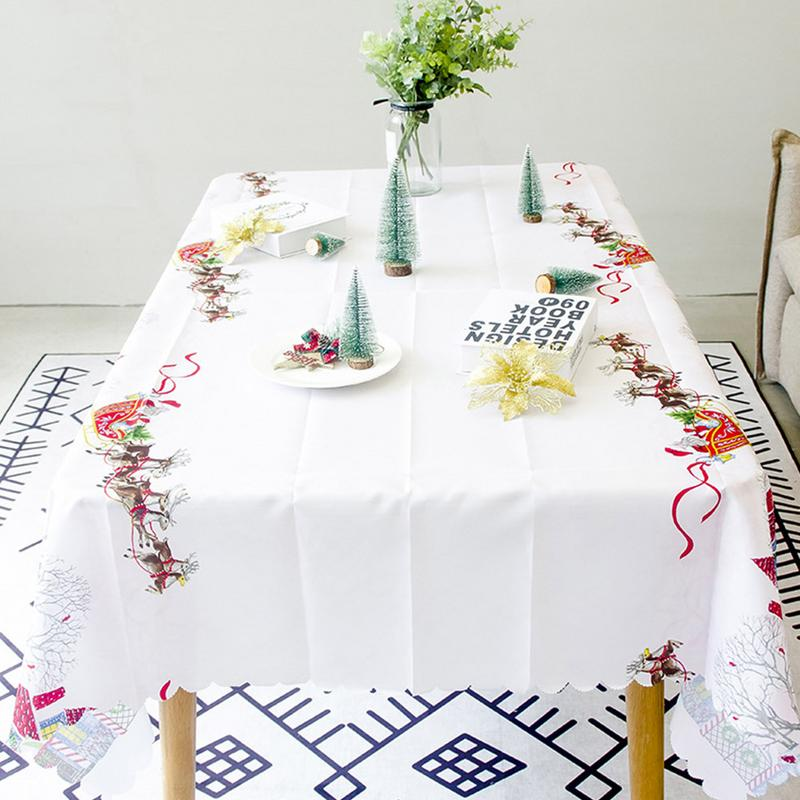 Kitchen Table Decorations For Christmas: 150x180cm New Year Christmas Tablecloth Kitchen Dining