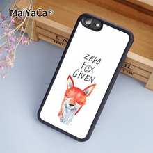 MaiYaCa Zero Fox Given Funny Joke fashion soft mobile cell Phone Case Cover For iPhone 7 Plus Custom DIY cases luxury shell(China)