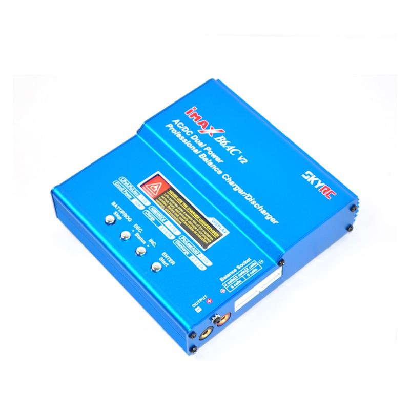 Oyuncaklar ve Hobi Ürünleri'ten Parçalar ve Aksesuarlar'de SKYRC iMAX B6AC V2 AC/DC RC Pil şarj dengeleyici Boşaltmalar LiPo/LiFe/LiIon/NiMH/ nicd pil + Adaptörü'da  Grup 1