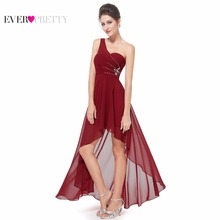 Evening Dresses Ever-Pretty EP08100 Sexy One Shoulder Chiffon Fashion Hi-low 2017 Fashion Vestidos Evening Dresses